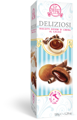 DELIZIOSI BISCUITS WITH COCOA CREAM FILLING 150g 9.99