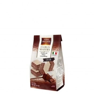 Feiny Biscuits Cubus Wafers Cocoa 125g 4.99