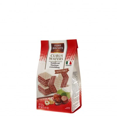 Feiny Biscuits Cubus Wafers Napolitaner 125g bag 4.99