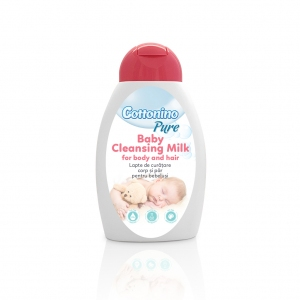 Lapte de Curatare pentru Corp si Par pentru Bebelusi, Cottonino Pure, 300ml