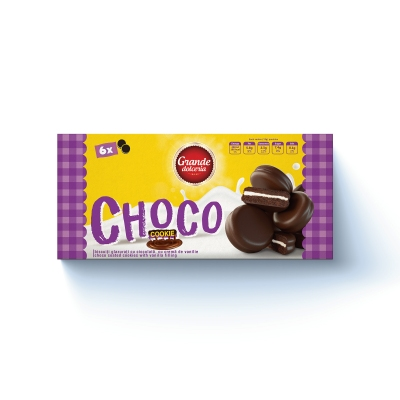 Biscuiti Glazuati cu Cocolata si Crema de Vanilie 228g