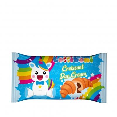 Croissant Duo Cream Unicorn Blue cu Crema de Cacao 55g