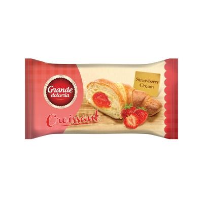 Croissant Grande Dolceria cu Crema de Capsuni 50g