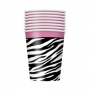 PAHARE CARTON ZEBRA 270 ML-8 BUC/SET